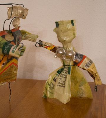 Müllkunst Frau