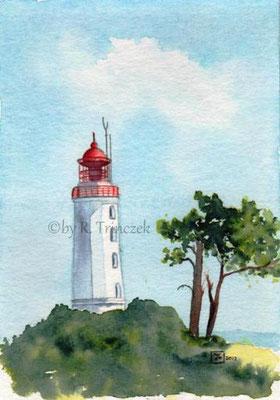 Leuchtturm Hiddensee - Aquarell - nicht mehr verfügbar