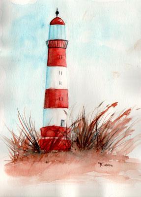 Leuchtturm Winter - Aquarell - DIN A 5 -  zu verkaufen