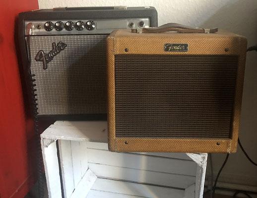 1974 Fender Vibro Champ & 1957 Tweed Champ