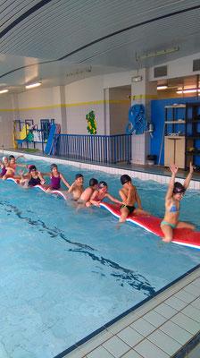 Classe -piscine, séjour scolaire-natation, Saugues, Auvergne