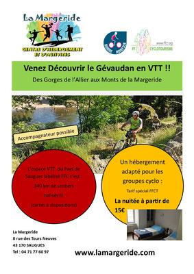 séjour VTT, Centre La Margeride, Saugues, Auvergne