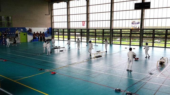 Hall des sports, hébergement groupe, Centre la Margeride, Saugues, haute-Loire