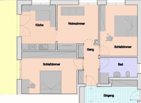 appartamento Heidi pianta