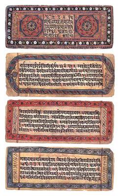 Bhagavad Gītā en un manuscrito del siglo XIX. Mahabharata.