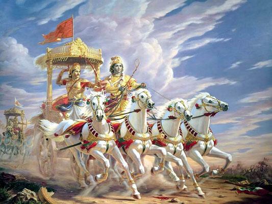 Bhagavad Gītā, capítulo más célebre en Occidente del Mahabharata.
