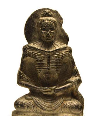 Buda en ayuno. Estilo Gandhara. Museu de les Cultures del Món. Barcelona. Foto: Naty Sánchez Ortega.