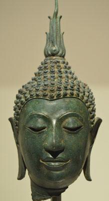 Cabeza de Buda. Tailandia. Siglo XIV. Museu de les Cultures del Món. Barcelona. Foto: Naty Sánchez Ortega.