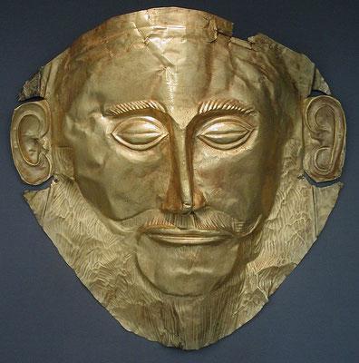 """La llamada """"Máscara de Agamenón"""", Museo Nacional de Arqueología, Atenas"""