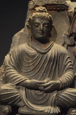 Buda. Estilo Gandhara. Museu de les Cultures del Món. Barcelona. Foto: Naty Sánchez Ortega.
