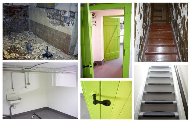Sanierung - Keller und Treppenhaus