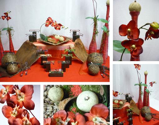 Rote Orchideen - Optiker