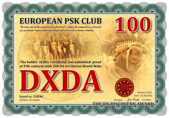 PSK contacts with 100 DX Territories World Wide