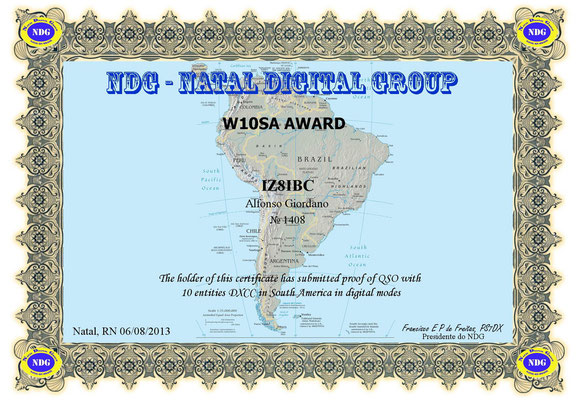 10 Entities DXCC in South America in Digital Modes