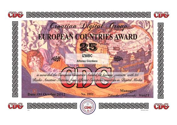 European Country Award 25