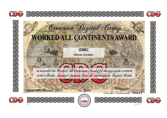 Worked All Continents Award