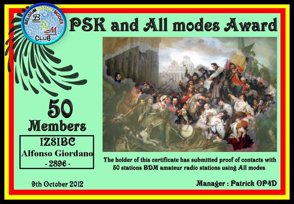 PSK and All Modes Award 50 Members