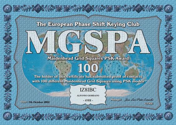 Maidenhead Grid Squares PSK Award