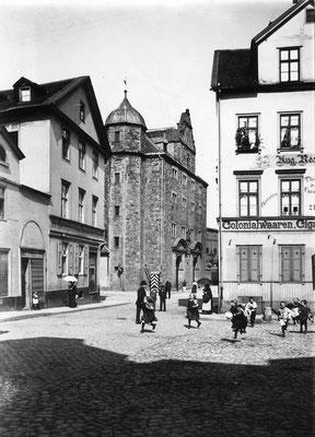 Im Eckhaus links (Artilleriestraße 1) war Richard Hauschildts letzte Wohnung. Stadtarchiv Kassel 0.002.785