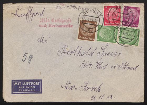 Brief Johanna Sommers an Käthi und Berthold Speier