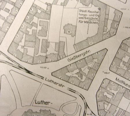 Stadtplanausschnitt (mit Gießbergstraße 7)
