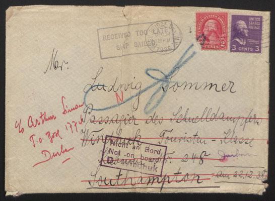 Brief Käthi Speiers an ihren Bruder Ludwig, der wieder zurück kam.