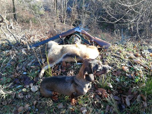 Riuk mit ihrem Fuchs! Weidmannsheil und Ho Rüd Ho!!!