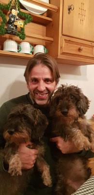 Von links: Anton sei Herrl und sei großer Freund Poldi!