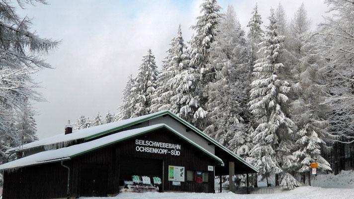 Ochsenkopfseilschwebebahn Talstation Süd in Fleckl