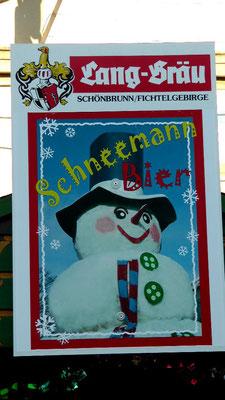Schneemann Bier gibt es zum Schneemannfest