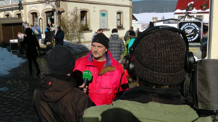 Schneemannbauer im Interview mit Kurier-TV