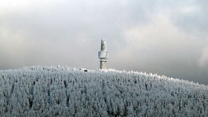 Blick zum Schneeberg Ochsenkopfseilschwebebahn Talstation Nord in Bischofsgrün