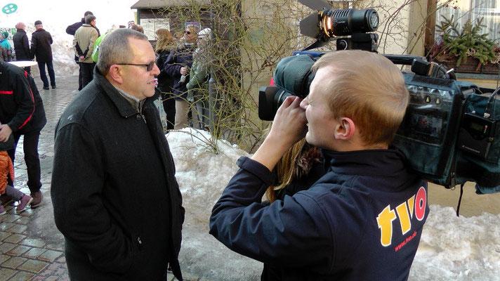 1. Bürgermeister im Interview mit TV Oberfranken