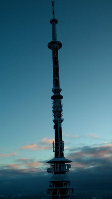 Blick vom Asenturm zum Ochsenkopfsendeturm