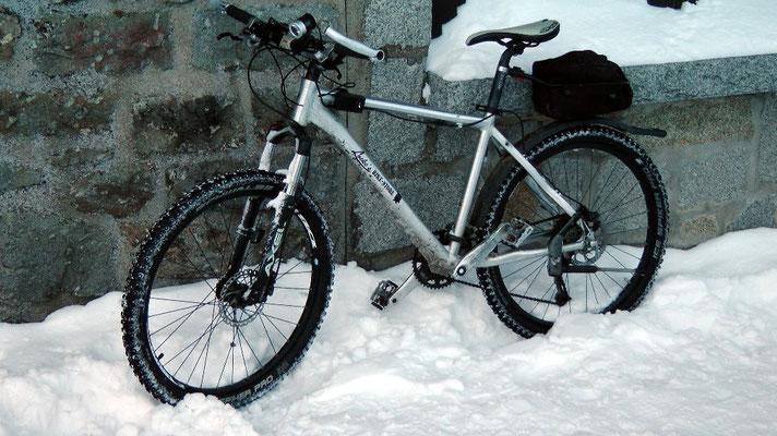 Biken im Winter auf dem Ochsenkopf 1024 m