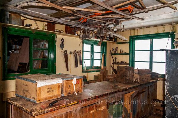 Detaille Island - Britische Hütte, Innenraum