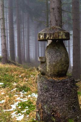 Am Landshuterhaus bei Bischofsmais gibt es sogar ein Zauberwald. Da war einer sehr krativ mit seiner Kettensäge.