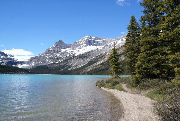 Immer wieder einer der unzähligen Seen in den Rockys vor Jasper Nt. Park