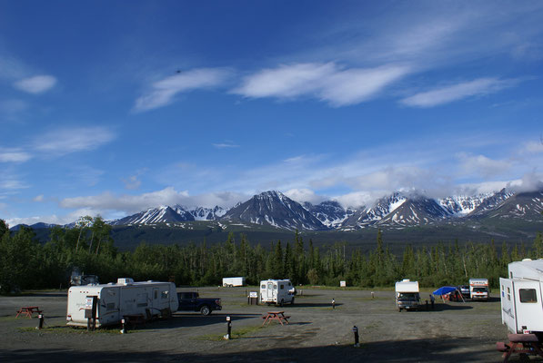 Campground in Haines Junction