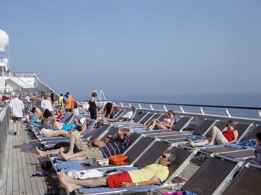 Sonnendeck der Costa Fortuna
