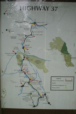 Infotafel der Cassiar Hwy