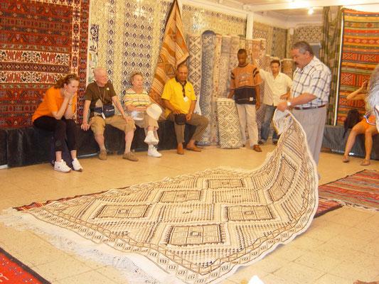 Teppichhändler in Tunis