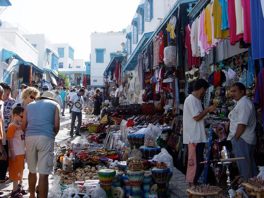 Diverse Märkte in Tunis