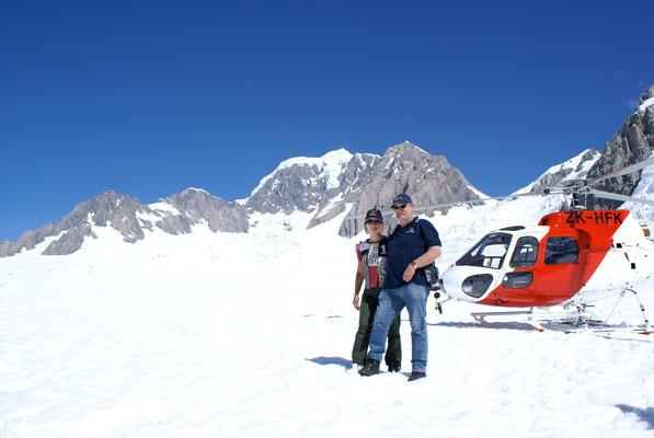Heliflug zum Franz Josef Gletscher