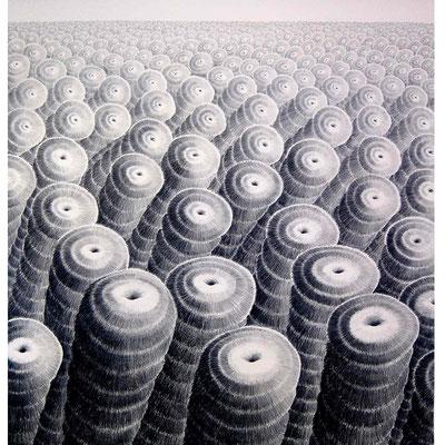 Objektlandschaft 150 cm x 150 cm