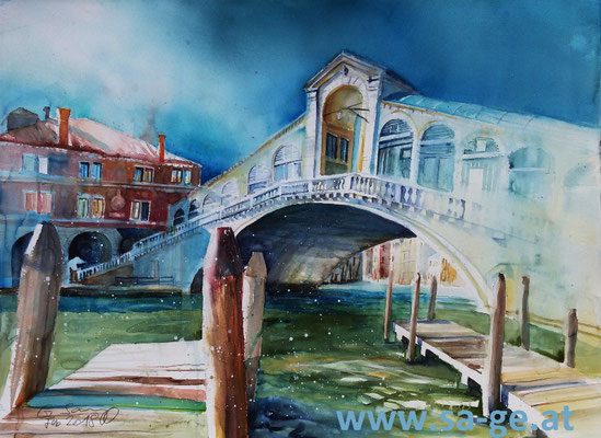 Ponte di Rialto - Venedig, 76x56cm, 2018/02 -X-