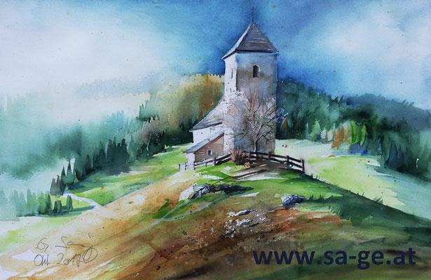 Kirche St. Oswald in Sommerau, 56x36cm, 2017/10 -X-