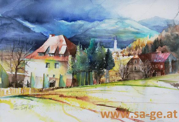 Schloss Silberberg, St. Johann, 75x52, 2019/03