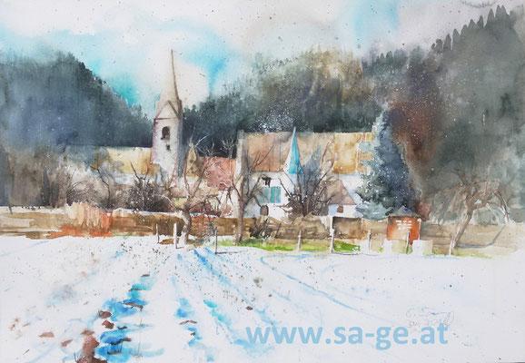 Stift Griffen - Winter, 75x52cm, 2021/01 -X-