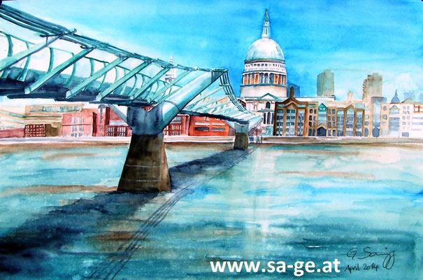 Millennium Bridge - 36x56cm, 2014